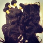 Virgin Peruvian Hair with silk lace closure